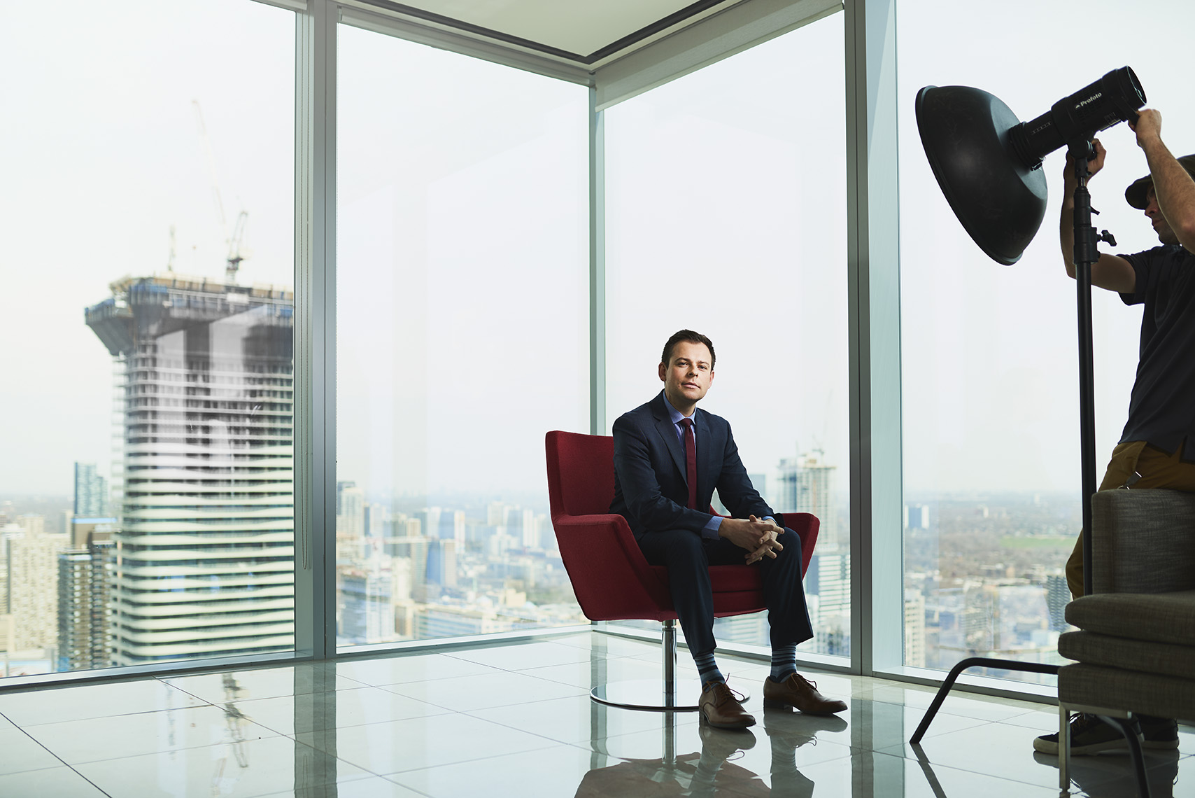 Corporate photograph of business executive in office